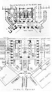 Union Station Floor Plan Cleveland Public Square Lake Shore Rail Maps