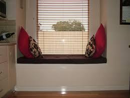 inviting creative bay window seat decoration exposed blind window