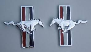 ford mustang emblem ford mustang pony package fender emblem set