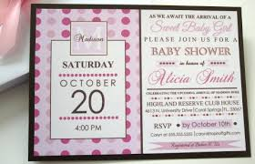 pink and brown monogrammed baby shower invitations
