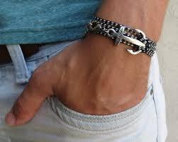 man hand bracelet images Man anchor bracelet man nautical bracelet sailor bracelet m jpg