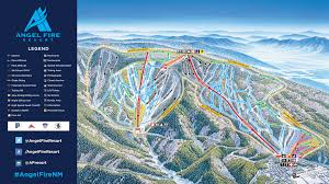 Utah Ski Resort Map by Trail Map Angel Fire