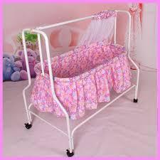 Swing Crib Bedding Folding Baby Cradle Crib With Netting Newborn Baby Rocking Crib