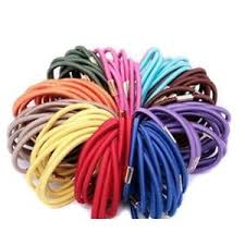 hair accessories wholesale 3mm assorted color elastic ponytail holders hair accessories