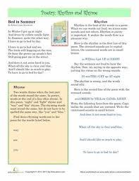 rhyme scheme practice worksheet free worksheets library download