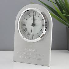 Wedding Gift Experiences Personalised Arched Mantel Clock With Chrome Finish The Gift