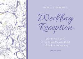 wedding reception invitation customize 35 wedding reception card templates online canva