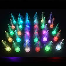 Christmas Tree With Optical Fiber Lights - newest crystal outdoor led christmas tree night party decorative