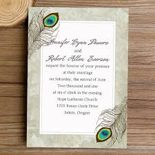 peacock wedding invitations classic peacock theme simple wedding invitations ewi320 as low as