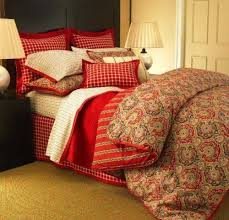 Tommy Hilfiger Duvet Tommy Hilfiger Red Karin Paisley Full Queen Comforter U0026 Shams Set