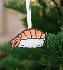 sushi ornament set features happy holidays anagram press