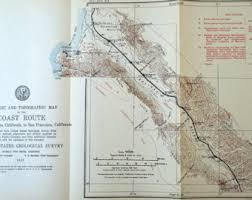 california map king city vintage bay area map etsy