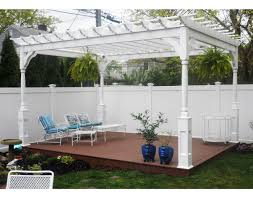 customer u0027s photo 12 u0027 x 16 u0027 vinyl 4 beam pergola