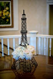 eiffel tower centerpieces marietta country club wedding by scobey photography bridal