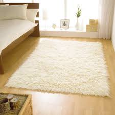 5 X 7 Rug Flooring U0026 Rugs Decorating Ivory Flokati Rug For Family Room With