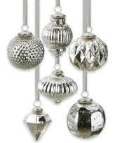 deal alert silver gold mercury glass ornaments set of 6