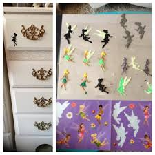 diy craft tinker bell fairy stickers transparent sheet puffy tinker bell fairy stickers transparent sheet puffy paint trace design