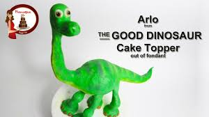 dinosaur cake topper how to make arlo from the dinosaur disney out of fondant