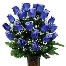 blue roses softly and tenderly blue roses with baby s breath