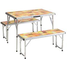 c chef mesa aluminum c table coleman pack away picnic set 2000020283 the home depot