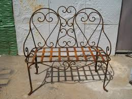 Mickey Mouse Patio Chair by Wrought Iron Double Heart Bench Patio Furniture Luvin U0027 Me Some