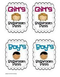 Printable Bathroom Passes Hall Pass Template For Teachers Teacher Printables Teacher