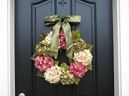 spring wreaths hydrangea wreath spring decorations online
