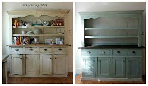 duck egg blue and paris grey kitchen hutch redo