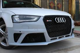 audi a4 b8 grill upgrade 2012 2015 a4 upgrade to b8 5 rs4 kit pp material car front