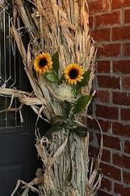 Corn Stalk Decoration Ideas Corn Stalks And Sunflowers We Could Do A More Cleaned Up Version
