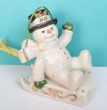Lenox Christmas Snowman Ornaments by Shopgoodwill Com Lenox 5 Piece Snowman Stand Abouts Ornaments Iob