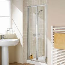 Lakes Shower Door Lakes 900mm Semi Frameless Bifold Shower Door Lkvb090 05