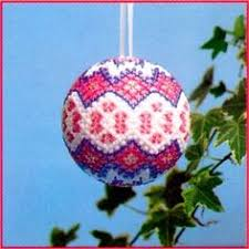 christmas bauble made from a polystyrene ball all crafts clay