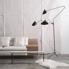 Serge Mouille Three Arm Ceiling Lamp Knock Off by Serge Mouille Three Arm Ceiling Lamp Less Expensive Version Of