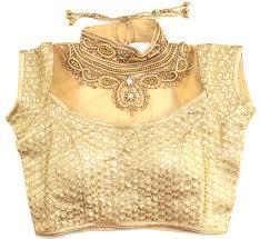 golden blouse material