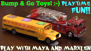 go lights for trucks car toys bump go bus and fire truck toys w lights and