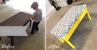 How To Make An Ottoman Out Of A Coffee Table Diy Coffee Table Turned Into An Ottoman