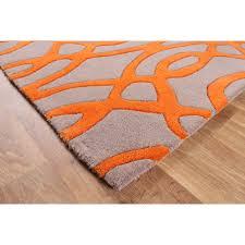 matrix cream u0026 orange trellis wool viscose rug kukoon