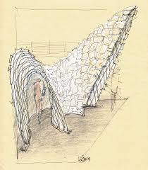 a u0027paper arch u0027 of concept sketches luigi rosselli architects