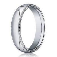 18k white gold wedding band men s traditional 18k gold wedding ring milgrain edge 4mm width
