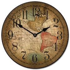 Silent Wall Clocks Vincenzo World Map Clock The Big Clock Store