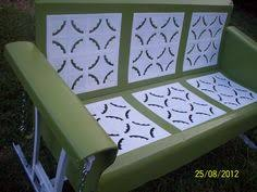vintage 1930s blue and white porch glider the birth of the