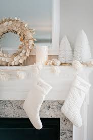 entrancing home christmas fireplace deco featuring mesmerizing