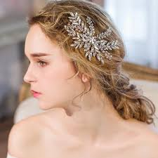 aliexpress buy clear bridal hair comb silver leaves