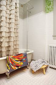 nautical shower curtain in bathroom scandinavian with kitchen