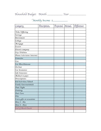 Company Budget Template For And Tracking Household Income And See Household Budget