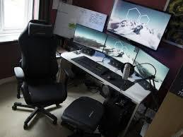 Computer Desk Setup Diy 68 Battle Station Gaming Computer Desk Setup White Desk Ikea