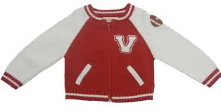 baby and toddler boys sweater knit varsity jacket and