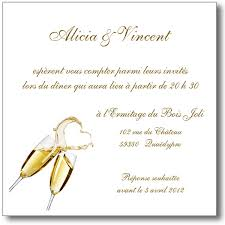 modele carte mariage carte invitation mariage chagne magique