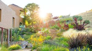Landscaping Ideas For Slopes A Hillside Garden U0027s Ingenious Design Sunset
